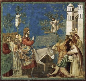 Giotto Scenes_from_the_Life_of_Christ_-_10__Entry_into_Jerusalem